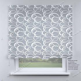 Римская фото штора Узор серый. Бесплатная доставка. Любой размер до 3,5х3,5м. Гарантия. Арт. 15-12-9