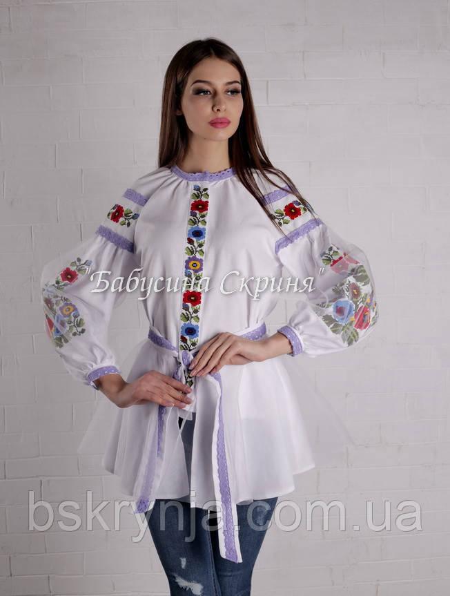 Заготівля для вишивки жіночої сорочки БС-119-2