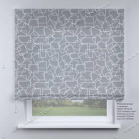 Римская фото штора Узор серый. Бесплатная доставка. Любой размер до 3,5х3,5м. Гарантия. Арт. 15-12-15