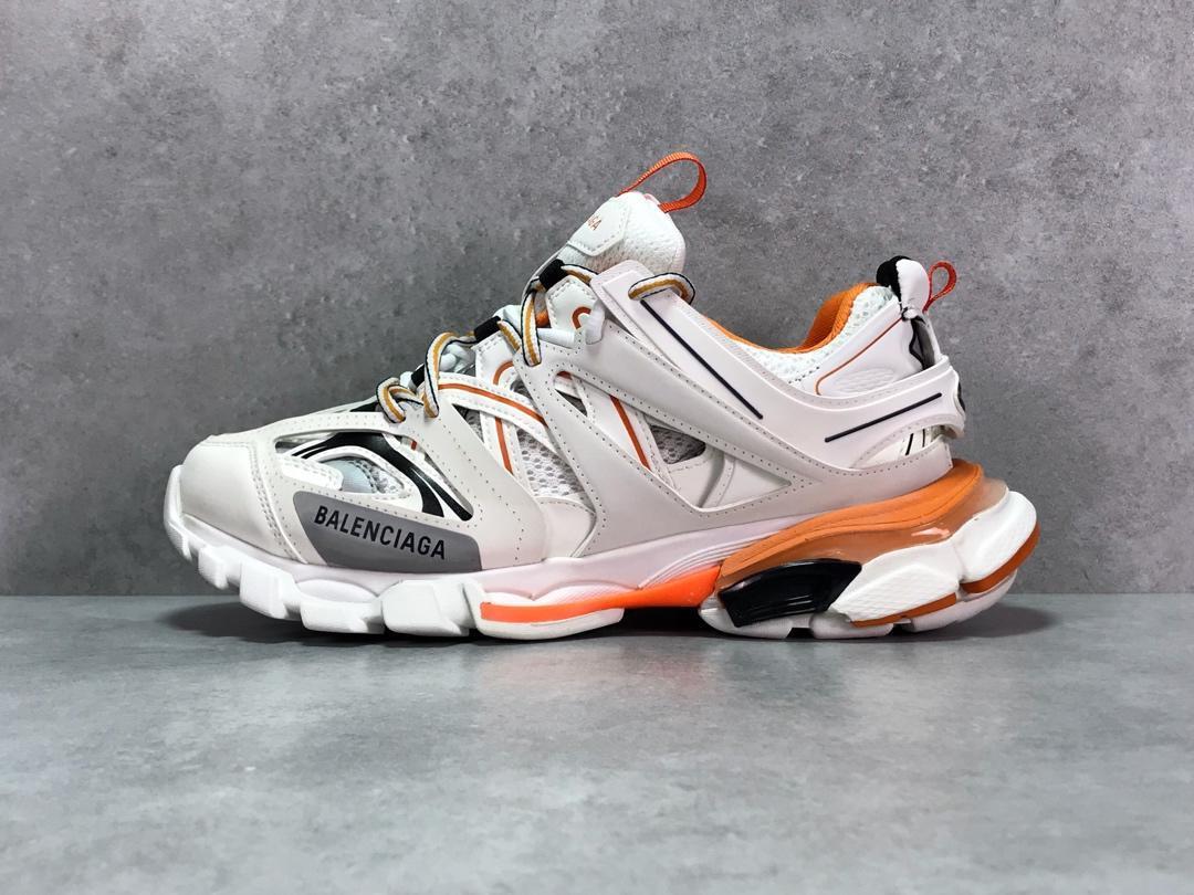 Кроссовки Balenciaga Track White/Orange (реплика)