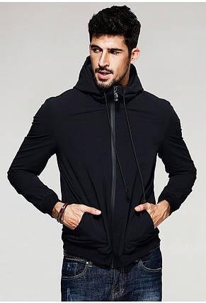 Чоловіча стильна куртка Softshell з капюшоном, фото 2
