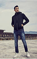 Чоловіча стильна куртка Softshell з капюшоном, фото 3