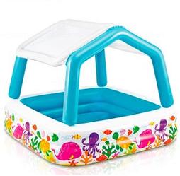 Бассейн детский квадратный надувной.Бассейн надувной игровой.