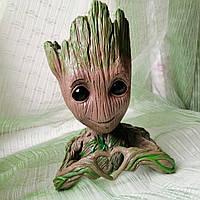 Малыш Грут из Стражи Галактики, цветочный горшок, вазон, Marvel Groot (сердечко)