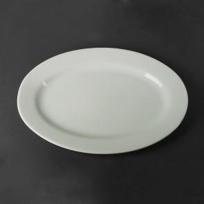 Велике овальне блюдо з бортиками HLS 320х440 мм (A1408)