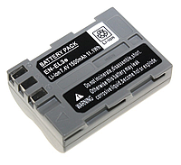 Аккумулятор EN-EL3e для фотокамеры Nikon D50, D70, D80, D90, D100, D200, D300, D700, z1 (1500mAh), фото 1