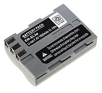 Акумулятор EN-EL3e для фотокамери Nikon D50, D70, D80, D90, D100, D200, D300, D700, z1 (1500mAh), фото 1