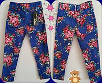 Детские брюки с цветочным принтом Узкачи