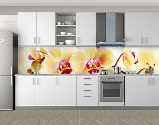 Кухонный фартук пластиковый 62х205 см (под заказ любой размер), фото 2