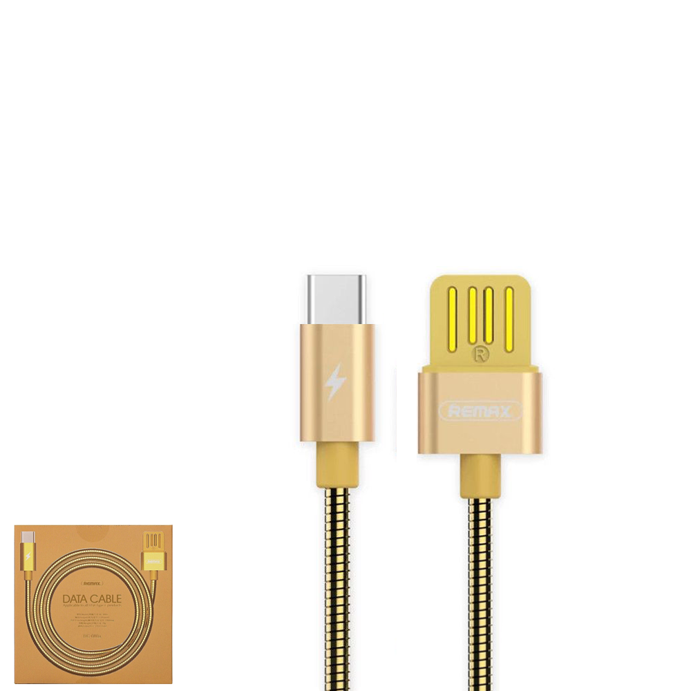 USB Data кабель Remax Tinned copper RC-080a Type-C 1m Gold