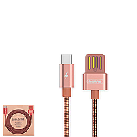 USB Data кабель Remax Tinned copper RC-080a Type-C 1m Rose Gold