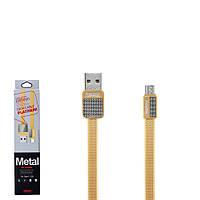 USB кабель Remax Platinum RC-044m MicroUSB 1m Gold