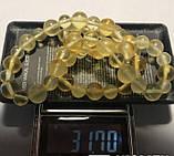 Ожерелье бусы натуральный цельный природный янтарь шар 8-12 мм вес 32г, фото 2