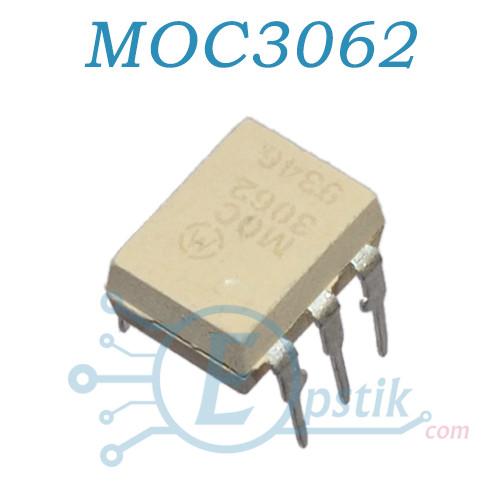 MOC3062, оптопара з симисторннім виходом, 600В, DIP6