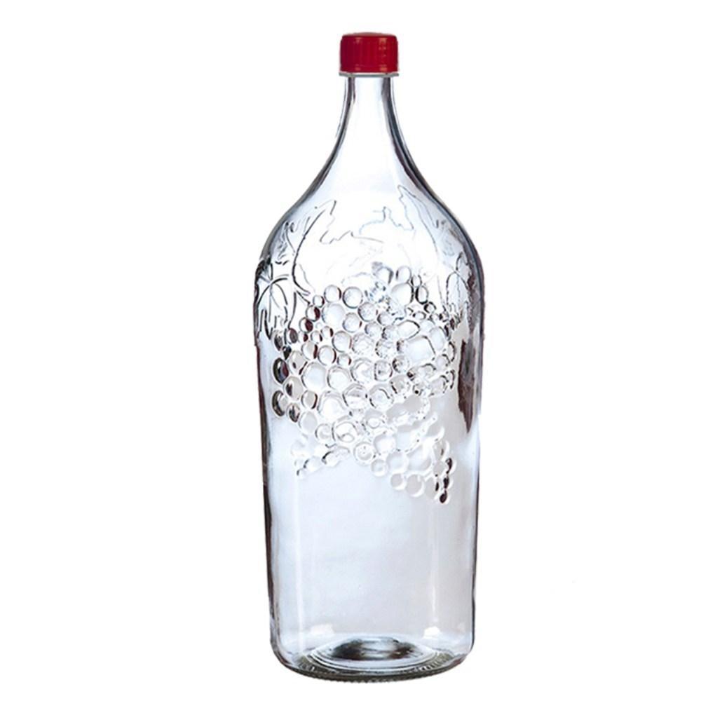 """Бутылка с пластмассовой крышкой """"Виноград"""" 2литра"""