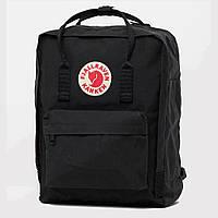 Стильный рюкзак, сумка Fjallraven Kanken Classic, канкен класик с отделением для ноутбука. Черный / 7101