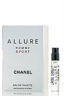 Туалетная вода Chanel ALLURE Homme SPORT  vial spray для мужчин 1 мл Код 14429