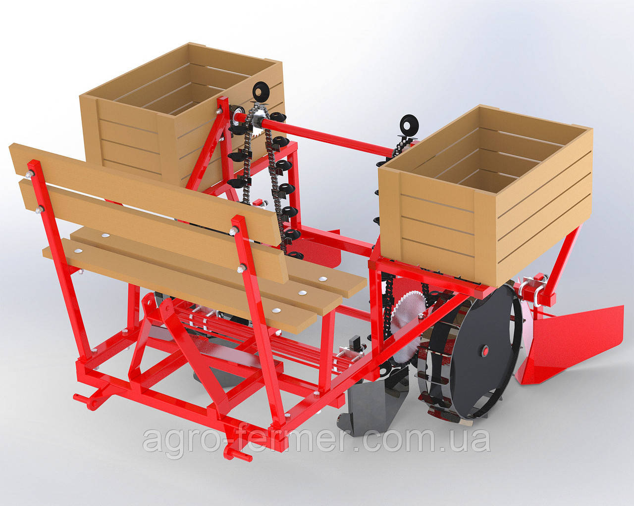 """Картофелесажалка тракторная В4 двухрядная для пророщенного картофеля """"AGRIX"""""""