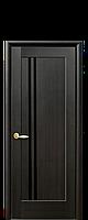Дверное полотно Делла Венге New с черным стеклом