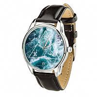 Часы Ziz Океан, ремешок насыщенно-черный, серебро и дополнительный ремешок - R142843