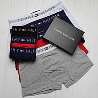 Подарочный набор мужского нижнего белья трусы, боксеры, транки Тommy Hilfiger Томми Хилфигер 3шт в упаковке