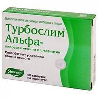 Турбослим альфа-липоевая кислота/L - карнитин, 60 таб., Эвалар