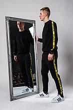 Мужской спортивный костюм Off-White (Black), спортивный костюм офф-вайт с лампасами