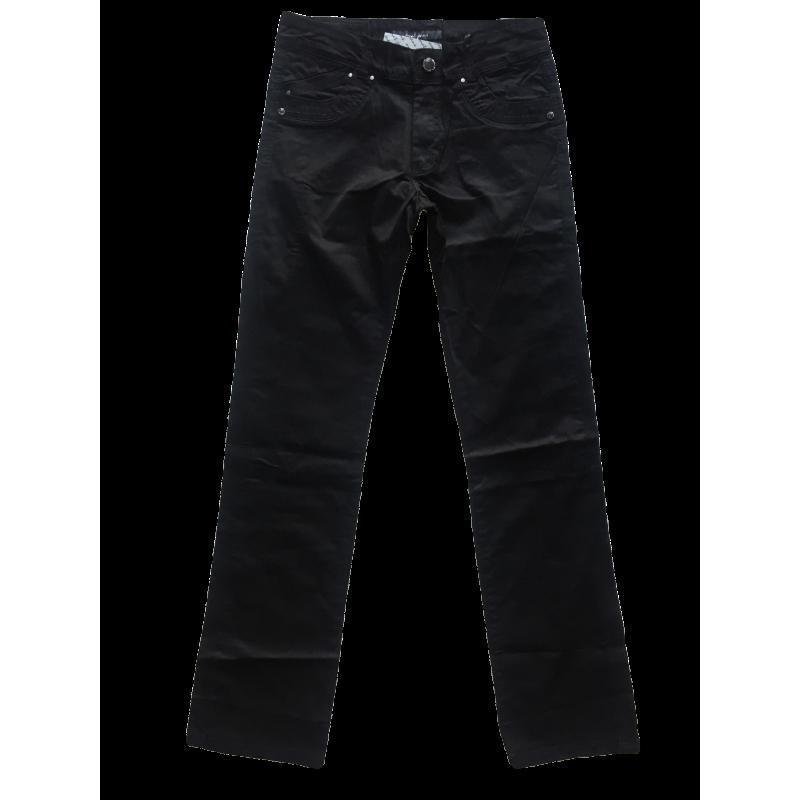 Стрейчевые чёрные джинсы OMAT 9841 черные