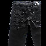 Стрейчевые чёрные джинсы OMAT 9841 черные, фото 3
