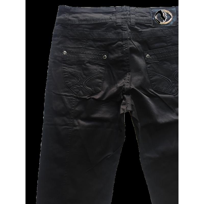84b7cc8b46b Купить женские джинсы OMAT 9841 полу батальные черные с бесплатной ...