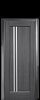 Дверное полотно Делла Серый со стеклом сатин