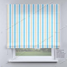 Римская штора в полоску. Бесплатная доставка. Любой размер до 3,5х3,5м. Гарантия. Арт. 15-07-28