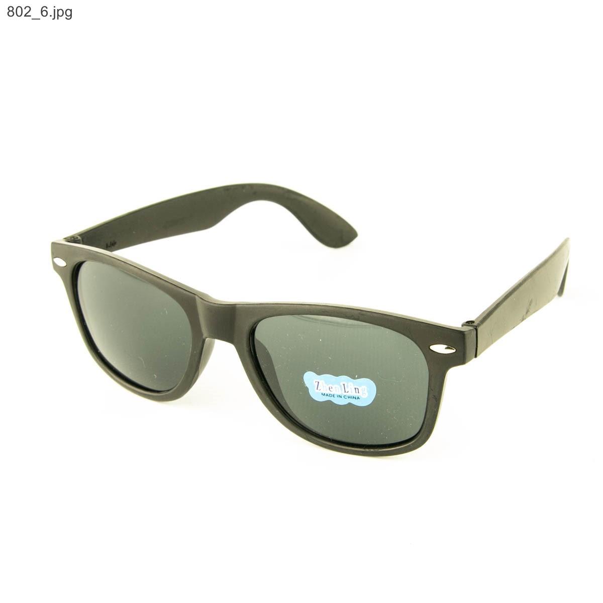 Солнцезащитные очки Wayfarer - Черные - 802
