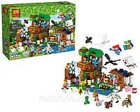 Конструктор Lele 33163 Minecraft Майнкрафт Гора персонажей 30 мини фигурок, 1007 деталей