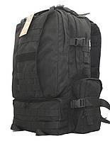 Тактический армейский походный супер-крепкий рюкзак на 50 литров Черный