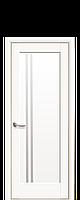 Дверное полотно Делла Белый Матовый со стеклом сатин
