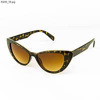Очки солнцезащитные женские кошачий глаз - Леопардовые - К249, фото 1
