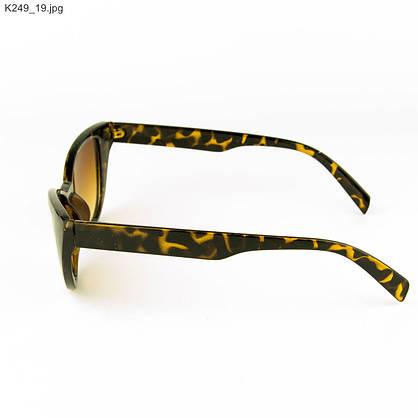Очки солнцезащитные женские кошачий глаз - Леопардовые - К249, фото 2