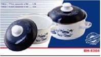 Набор эмалированных кастрюль из нержавеющей стали Bohmann 1,1л - 2,1л. (12 шт.)