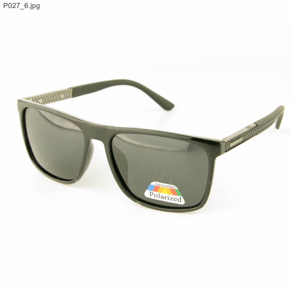 Мужские очки Polarized - Черные - P027, фото 1