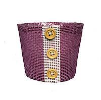 Кашпо из мешковины фиолетовое 9 х 10 см