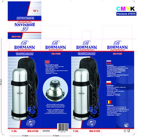 Термос противоударный Bohmann 1.5л. (12 шт), фото 2