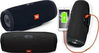 Портативная Bluetooth колонка JBL Charge 3 чёрного цвета  (реплика)