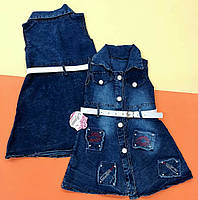 Сарафан джинсовый для девочки.80-86 и 92-98