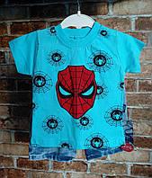 Компект. Футболка и шорты на мальчика. 1,2 . Человек паук.