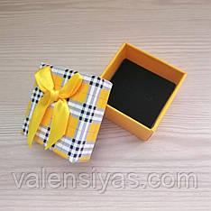Подарочная коробочка для кольца - желтая