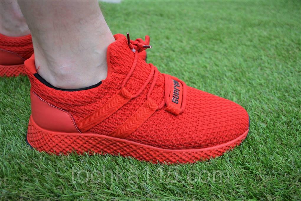 Мужские кроссовки Adidas Rad адидас красные сетка, копия