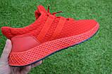 Мужские кроссовки Adidas Rad адидас красные сетка, копия, фото 5