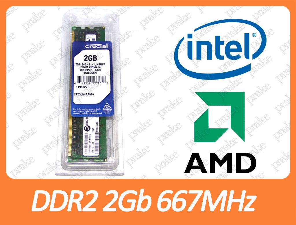 DDR2 2GB 667 MHz (PC3-5300) Crucial CT25664AA667