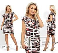 726f15459c5 Платье-мини из вискозы с короткими рукавами-крылышки и вырезом-лодочка